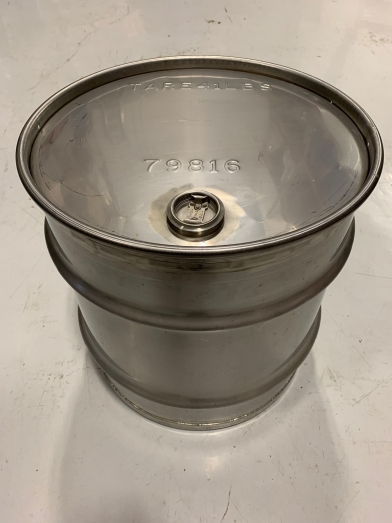baril inox 95l, drum stainless 25 gallons
