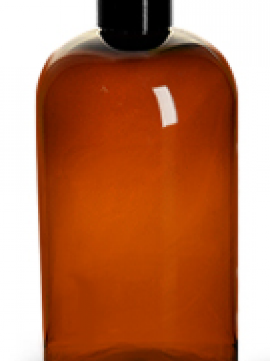 PET Ambre bouchon noir, amber PET bottle black cap
